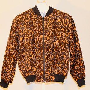 Jackets & Blazers - Vintage Leopard Silk Jacket